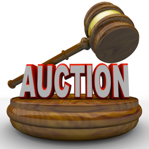 Auction - Word and Gavel for Final Bid